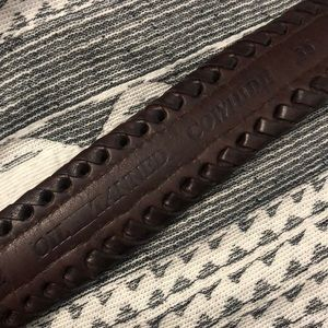 Accessories - Vintage Oil-tanned Cowhide Brown Woven Belt